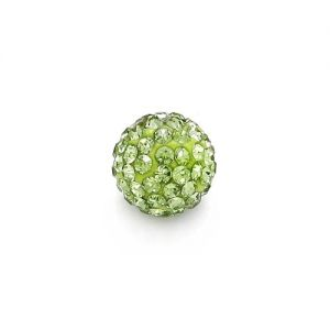 DISCOBALL BEAD PERIDOT 12 MM