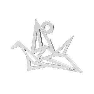 Uccello origami ciondolo, LK-0364 - 0,50