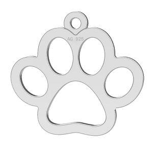 Zampa di cane pendente, argento 925, LK-0365 - 0,50
