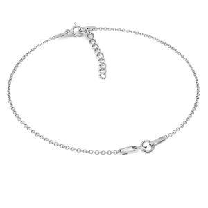 Base per bracciali*argento 925*BRACELET 18 (A 030) + R1 50 15-19 cm