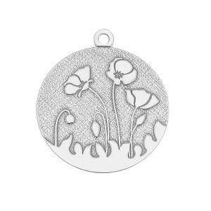 Papaveri pendente argento, LK-0439 17x19,5 mm