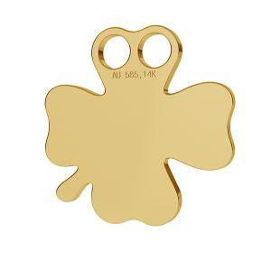 Trifoglio oro 14K pendente LKZ-00002 - 0,30 mm