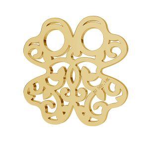 Trifoglio oro 14K pendente LKZ-00006 - 0,30 mm