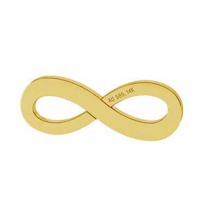 Segno di infinito pendente oro 14K LKZ-00325 - 0,30 mm