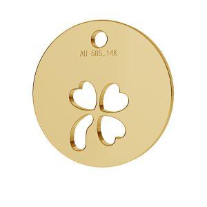 Trifoglio pendente oro 14K LKZ-00024 - 0,30 mm