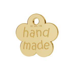 Piccola piastra di finitura fiore HANDMADE oro 14K LKZ-00577 - 0,30 mm