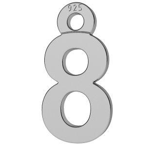 Cufra numero 8 ciondolo, LK-0713 - 0,50