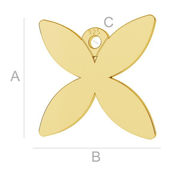 Farfalla ciondolo, LK-0888 - 0,50
