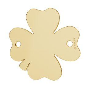 Trifoglio oro 14K pendente LKZ-00095 - 0,30 mm