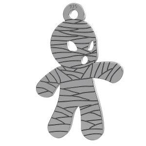 Mummia halloween ciondolo, LK-1018 - 0,50