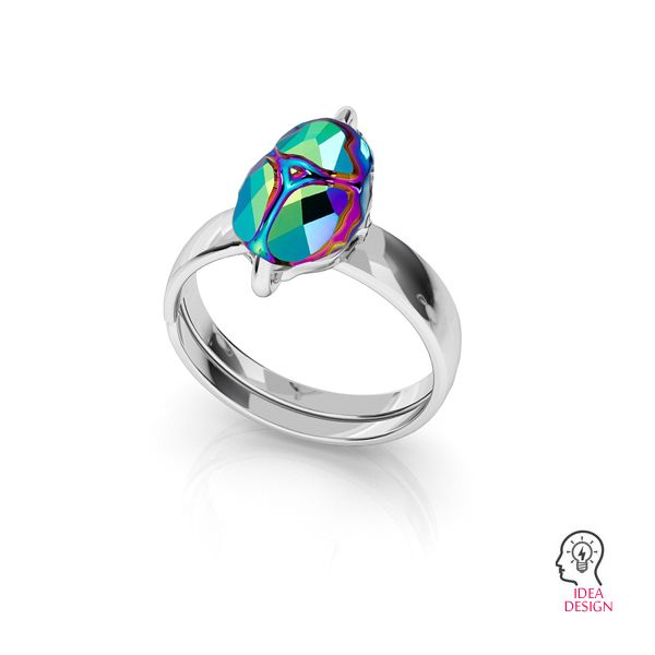 Anello Scarabeo 12mm S-RING 014 (5728 MM 12)