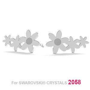 Fiore orecchini (2058 SS 7) LK-1179 KLS - 0,50