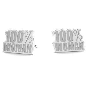 100% Woman orecchini LK-1189- 0,50 - KLS