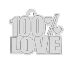 100% Love ciondolo, LK-1185 - 0,50