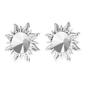 Sole orecchini Rivoli 6mm, argento 925, ODL-00313 KLS (1122 SS 29)
