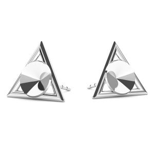 Triangolo orecchini Swarovski Rivoli 6mm, argento 925, ODL-00315 KLS (1122 SS 29)