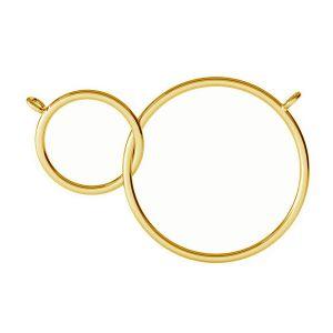 Ciondolo karma a doppio anello pendente, S-PENDANT 003