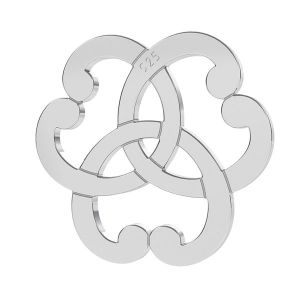 Triquetra cuore rosone ciondolo, argento 925, LK-1260 - 0,50