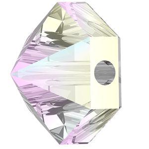 Hexagon Spike Bead, Swarovski Crystals, 5060 MM 5,5 CRYSTAL AB