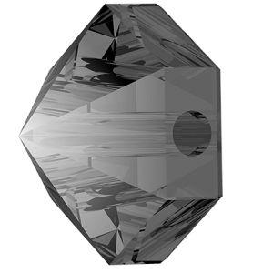 Hexagon Spike Bead, Swarovski Crystals, 5060 MM 5,5 CRYSTAL SILVER NIGHT