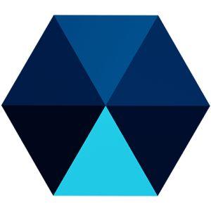 Hexagon Spike Bead, Swarovski Crystals, 5060 MM 5,5 CRYSTAL METALLIC BLUE