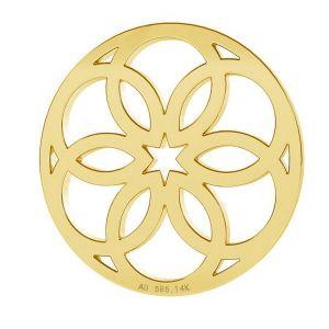 Rosone ciondolo, oro 14K, LKZ-00742 - 0,30