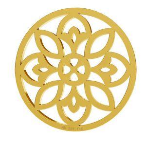 Rosone ciondolo, oro 14K, LKZ-00619 - 0,30