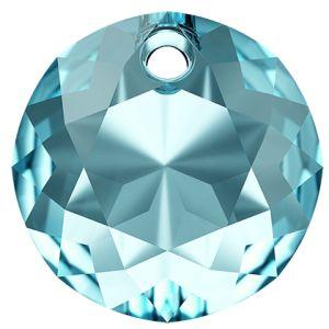 Classic Cut Pendant, Swarovski Crystals, 6430 MM 14,0 AQUAMARINE