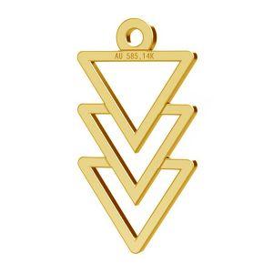 Triangolo ciondolo, oro 14K, LKZ-00434 - 0,30