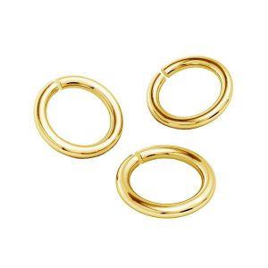 Oro anelli di salto AU 585 14K, KC-0,80x4,25