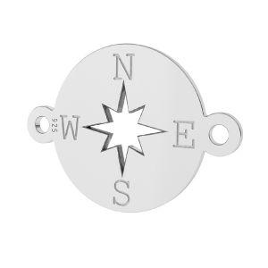 Bussola pendente, argento 925, LK-1318 - 0,50