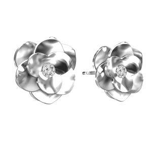 Rosa orecchini ODL-00041 KLS - CRYSTAL