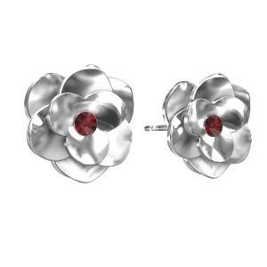 Rosa orecchini ODL-00041 KLS - SIAM