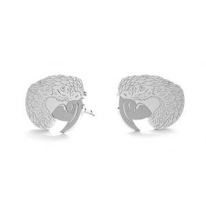 Pappagallo orecchini, argento 925, LK-0899 KLS - 0,50
