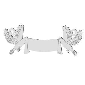 Nozze piccione pendente, argento 925, LK-1366 - 0,50