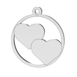 Cuore pendente, argento 925, LK-1367 - 0,500