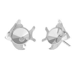 Pesce orecchini, argento 925, ODL-00361 KLS (1122 SS 29)