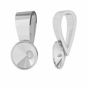 Decorativo pendente Rivoli 6mm, argento 925, ODL-00371 (1122 SS 29)