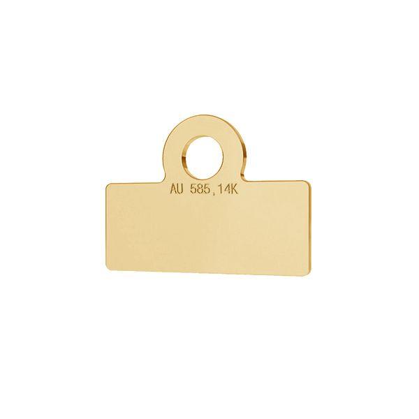 Rettangolo oro 14K pendente, LKZ-1375 - 0,30