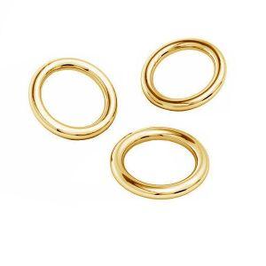 Oro anelli di salto AU 585 14K, KC-0,80x2,15