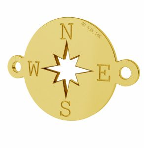 Bussola pendente, oro 14K, LKZ-01318 - 0,30