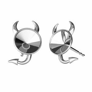 Base rotonda orecchini, argento 925, ODL-00377 KLS (1122 SS 29)