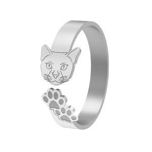 Anello di gatto, argento 925, LK-1402 - 0,50