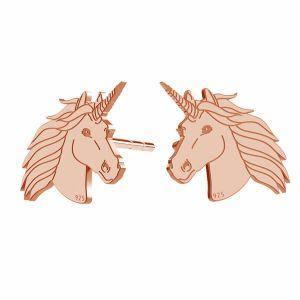 Unicorno orecchini, argento 925, LK-1397 KLS - 0,50