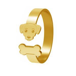 Anello di cane, argento 925, LK-1403 - 0,50