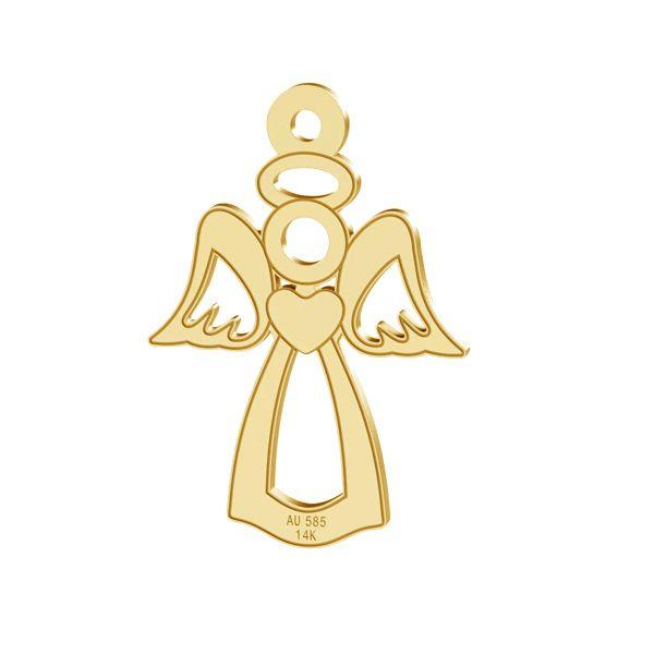 Angelo ciondolo, oro 14K, LKZ-00332 - 0,30
