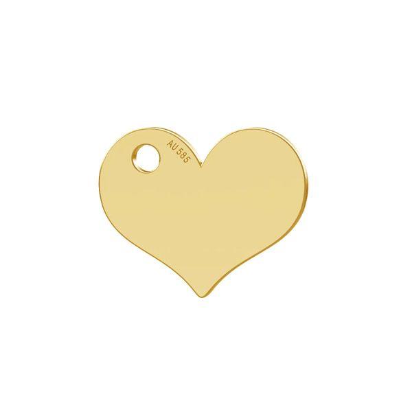 Cuore pendente oro 14K LKZ-00573 - 0,30