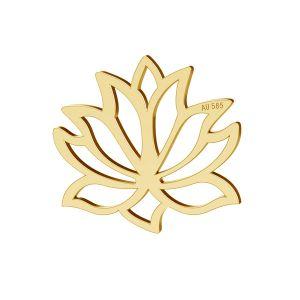 Loto fiore pendente oro 14K LKZ-00771 - 0,30