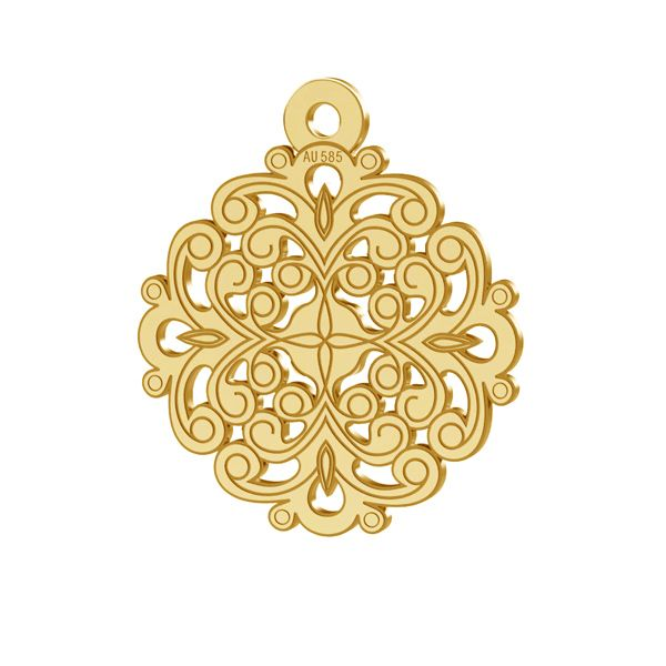 Rosone ciondolo, oro 14K, LKZ-00382 - 0,30