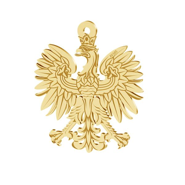 Trifoglio pendente oro 14K LKZ-00471 - 0,30